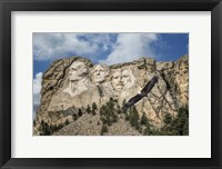 Framed Mount Rushmore And Eagle