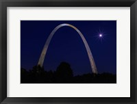 Framed St. Louis Arch With Starburst Moon