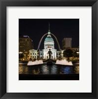 Framed St. Louis Keiner Plaza 2