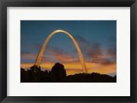 Framed Arch At Sunset