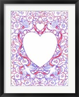 Framed Lace Doves and Ribbon