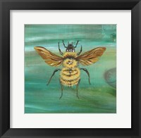Framed Yellow Bumble Bee