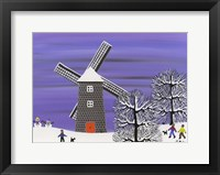 Framed Winter Windmill