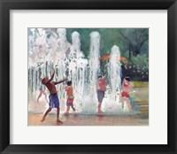 Framed Fun in the Fountain