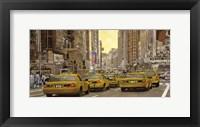 Framed Taxi a New York