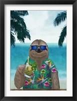 Framed Sloth on Summer Holidays