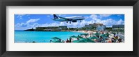 Framed Happy Landings on St. Maarten