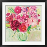 Framed Pink and Red Florals