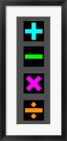 Framed Math Symbols Wall Scroll - Colorful Symbols
