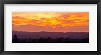 Framed Blazing Sunset