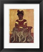 Vendedora de Pinas Framed Print