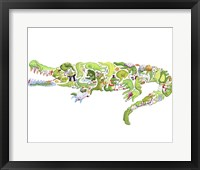 Framed Crocodile