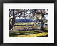 Framed Lowcountry Spanish Moss Escape