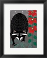 Framed Raccoon Xmas