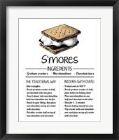 Framed S'mores Recipe White Background