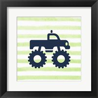 Framed Monster Truck Graphic Green Part I