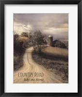 Framed Country Road Take Me Home