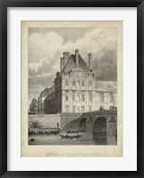 Framed Pavillon de Flore & Pont Royal