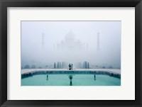 Framed Misty Taj Mahal
