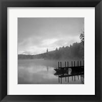 Framed On The Dock bw