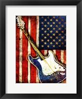 Framed Patriotic Guitar
