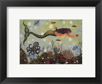 Purple Mermaid Framed Print