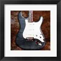 Framed Rustic Electric Guitar