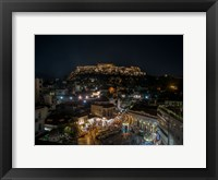 Framed Greece Athens Acropolis Night 1