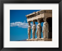 Framed Greece Athens Acropolis Statues