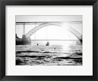 Framed Portugal Porto BW Bridge
