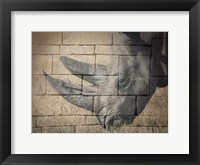 Framed Stone Wall Rhino