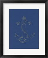 Framed Glowing Indigo Anchor