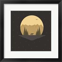 Framed Fox Under the Stars
