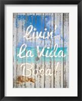 Framed Livin La Vida Boca