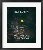 Framed Good Things Come To Those Who Wait Yellow Flower