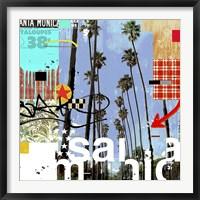 Framed Santa Monica Signs