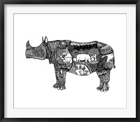 Framed Goodbye Rhino