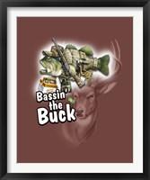 Framed Bassin' the Buck