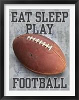 Framed Eat Sleep Play Football