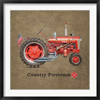 Framed Fire Tractor