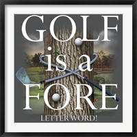 Framed Fore Letter Word