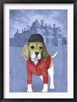 Framed Beagle with Beaulieu Palace