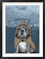 Framed English Bulldog with Stonehenge
