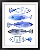 Framed Retro Watercolour Fish