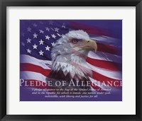 Framed Pledge of Allegiance