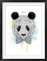 Framed Hello Panda