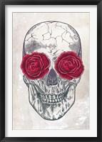Framed Skull & Roses