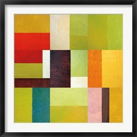 Framed Color Study Abstract 2