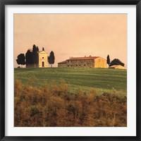 Framed Evening Light, Tuscany