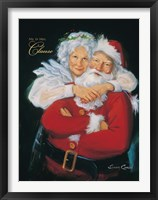 Framed Mr. and Mrs. Claus
